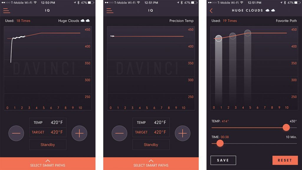 davinci iq app interface